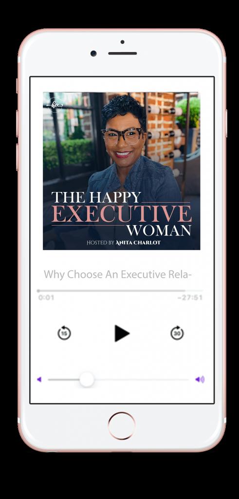 happy executive woman podcast